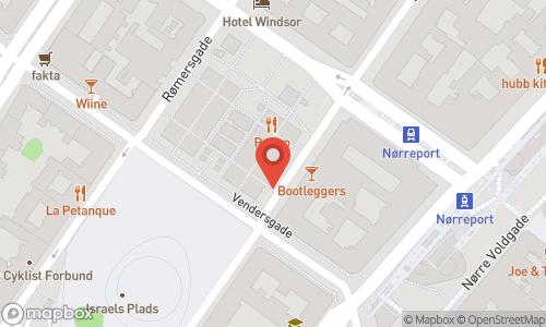Map of the location of Vinveto Torvehallerne