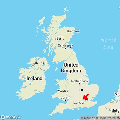 Map showing location of Hitchambury within the UK