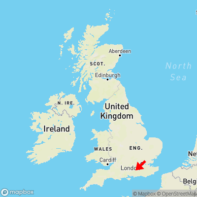 Map showing location of Thursley within the UK