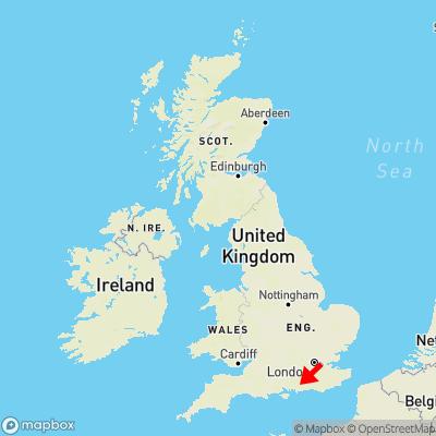 Map showing location of Heyshott within the UK
