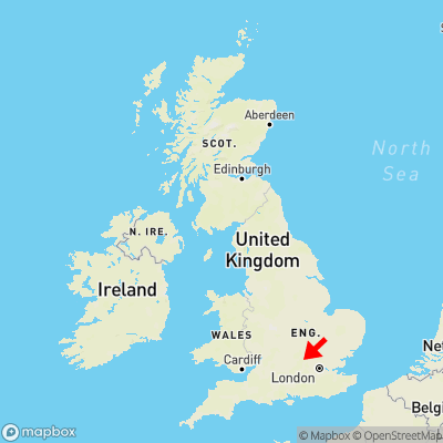 Map showing location of Wendover Dean within the UK