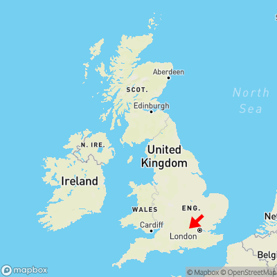 Map showing location of Mundaydean Bottom within the UK