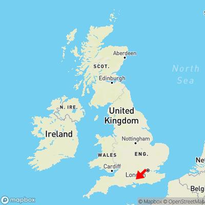 Map showing location of Kilmeston within the UK