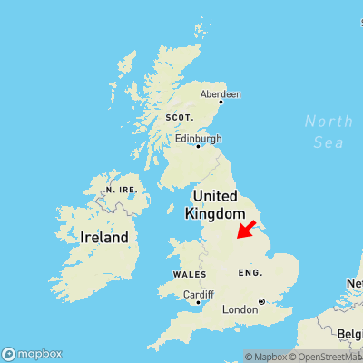 Map showing location of Aughton within the UK