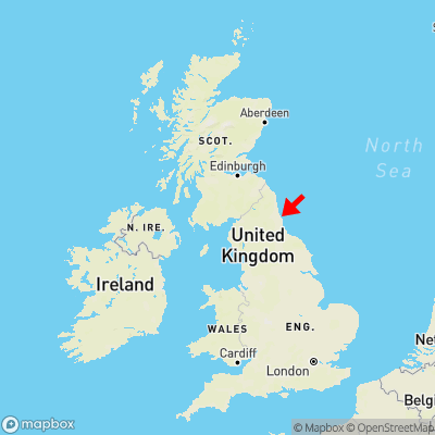 Map showing location of Tynemouth within the UK