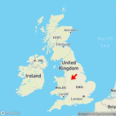 Map showing location of Basford Green within the UK