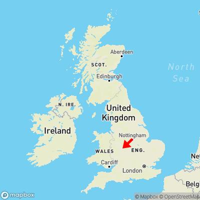 Map showing location of Blackheath within the UK