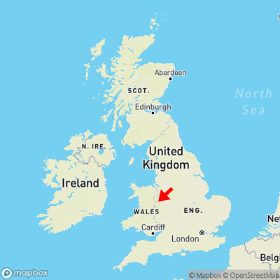 Map showing location of Ford within the UK