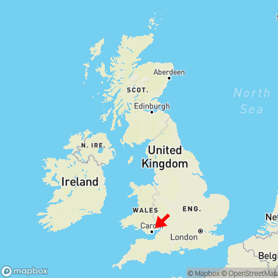Map showing location of Ponthir within the UK