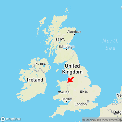 Map showing location of Burntwood Pentre within the UK
