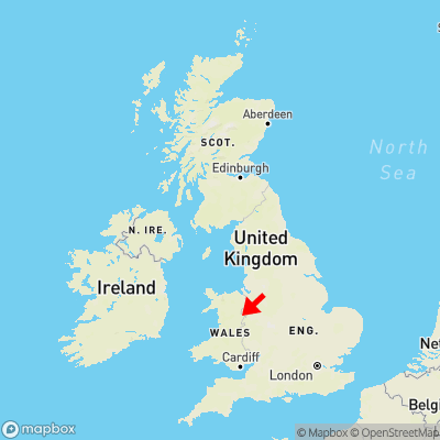 Map showing location of Deuddwr within the UK