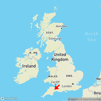 Map showing location of Yondercott within the UK