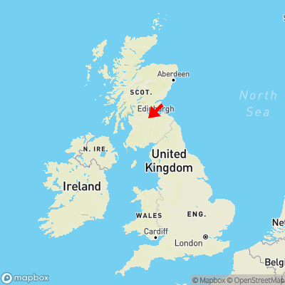Map showing location of Bents within the UK