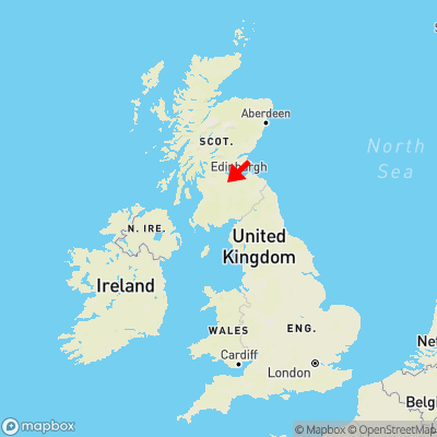 Map showing location of Breich within the UK
