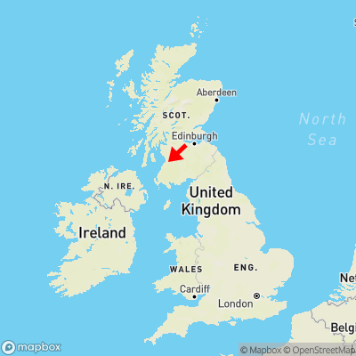 Map showing location of Hillhead within the UK