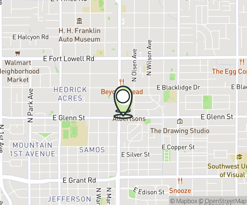 Map with pin near 2904 N. Campbell Ave., Tucson, AZ 85719 for Campbell.