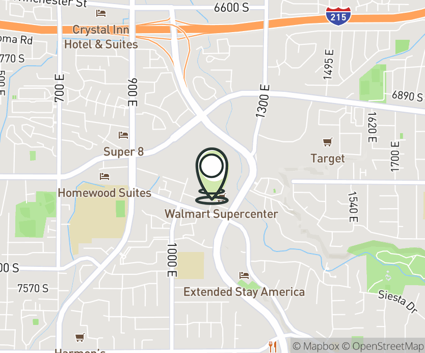 Map with pin near 7194 S. Union Park Ave., Midvale, UT 84047 for Fort Union.