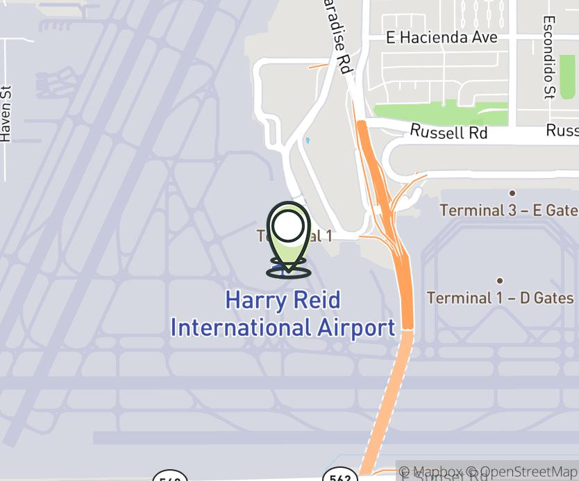 Map with pin near 5757 Wayne Newton Blvd, Las Vegas, NV 89119 for McCarran Int'l Airport - Terminal A-B.