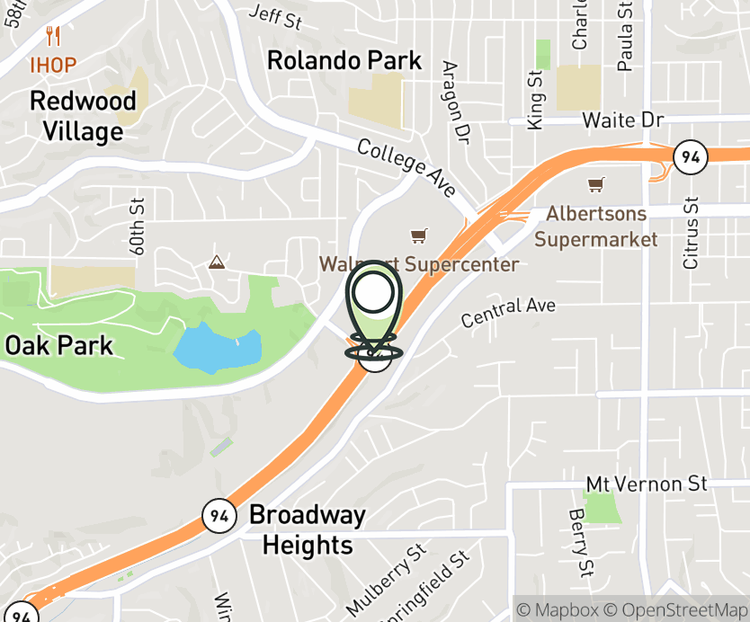 Map with pin near 6348 College Grove Way, San Diego, CA 92115 for The Grove.