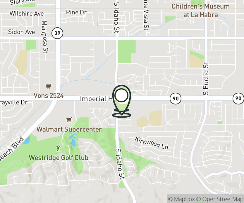 Map with pin near 1040 W. Imperial Hwy, La Habra, CA 90631 for Imperial Promenade.