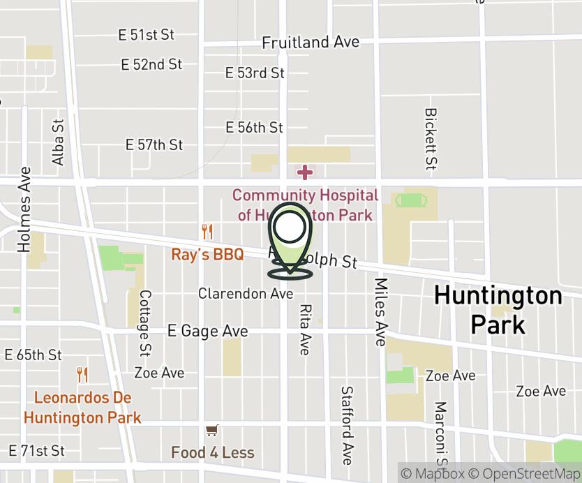 Map with pin near 6042 Pacific Blvd., Huntington Park, CA 90255 for Huntington Park SC.