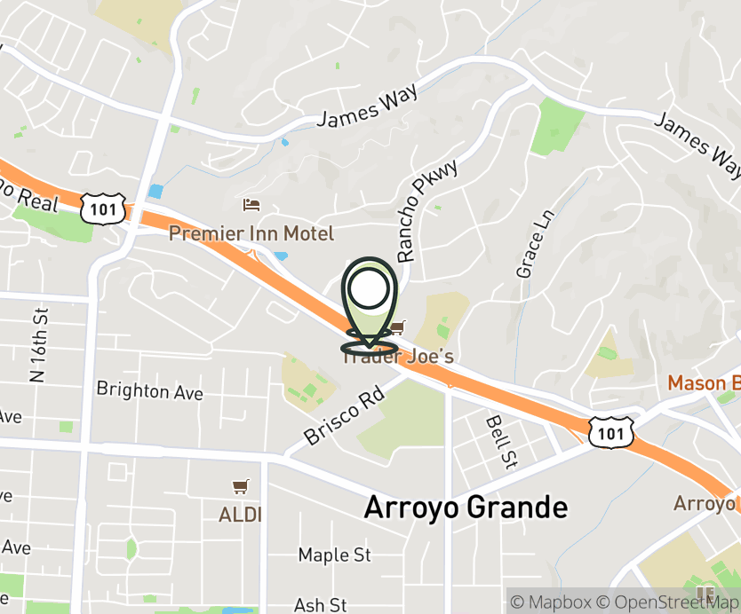 Map with pin near 926 Rancho Pkwy, Arroyo Grande, CA 93420 for Arroyo Grande.