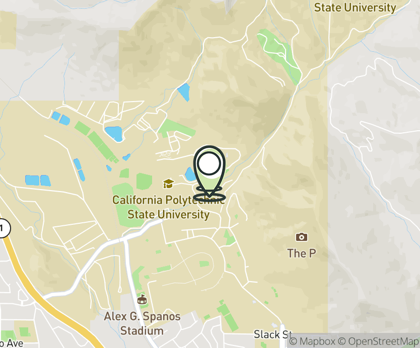 Map with pin near 1 Grand Ave, San Luis Obispo, CA 93407 for Vista Grande.