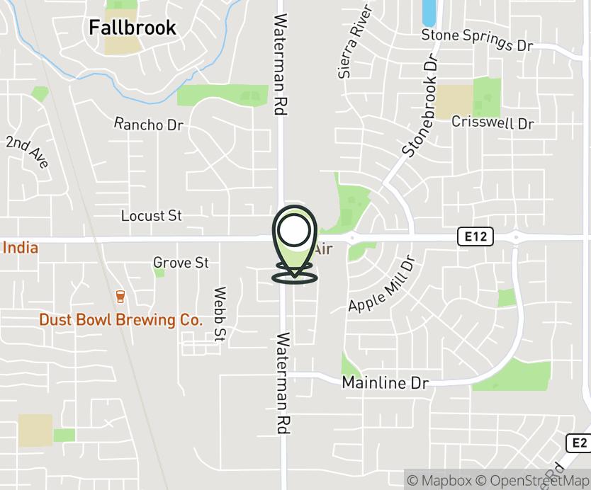 Map with pin near 9304 Elk Grove Blvd., Elk Grove, CA 95624 for Waterman Grove.