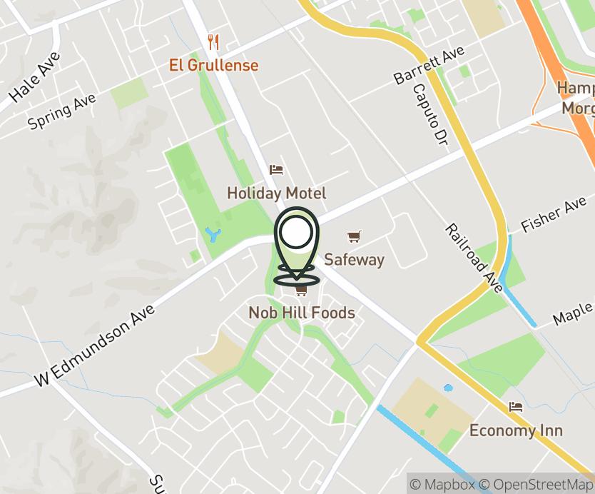 Map with pin near 317 Vineyard Town Center Way, Morgan Hill, CA 95037 for Vineyard.
