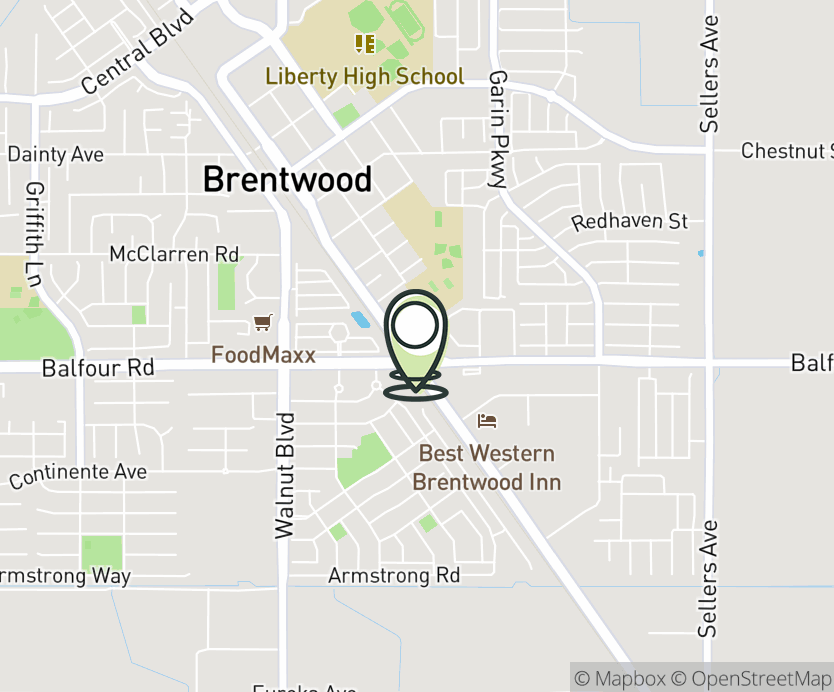 Map with pin near 8630 Brentwood Blvd., Brentwood, CA 94513 for Garin Ranch.