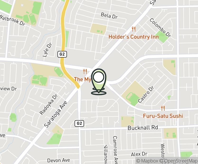 Map with pin near 1030 El Paseo de Saratoga, San Jose, CA 95130 for El Paseo De Saratoga.