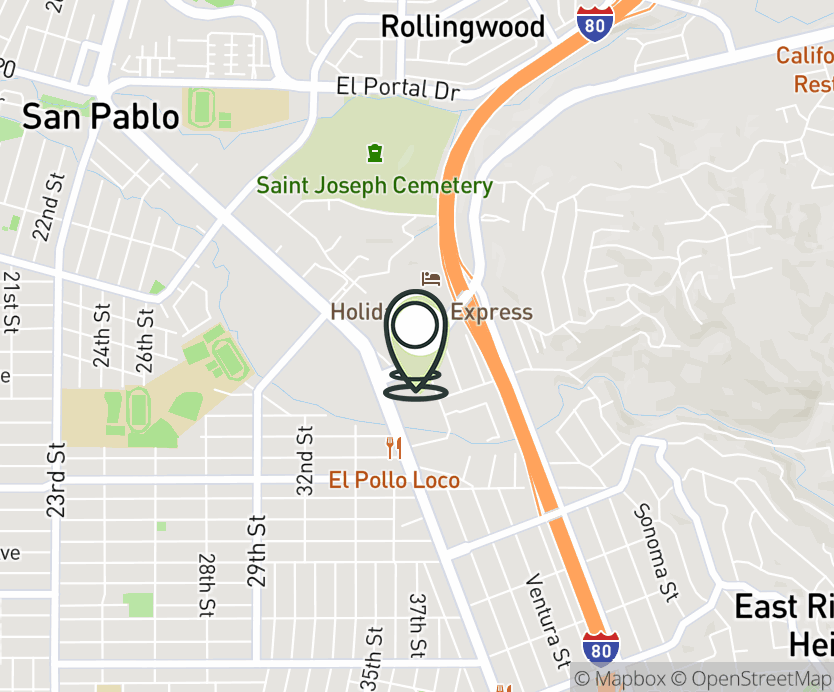 Map with pin near 30-C San Pablo Towne Center, San Pablo, CA 94806 for San Pablo Towne Center.