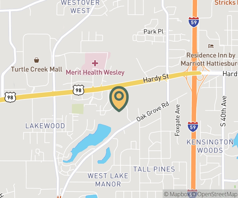 Map showing store location