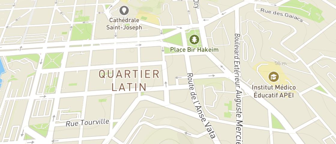 Plan de HOUSE - Quartier Latin
