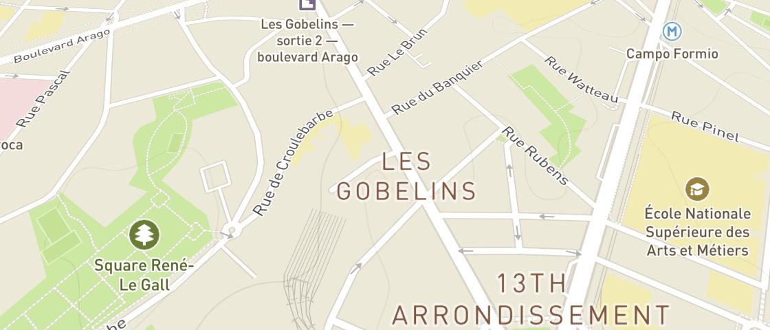 Plan de BIOBURGER - Gobelins