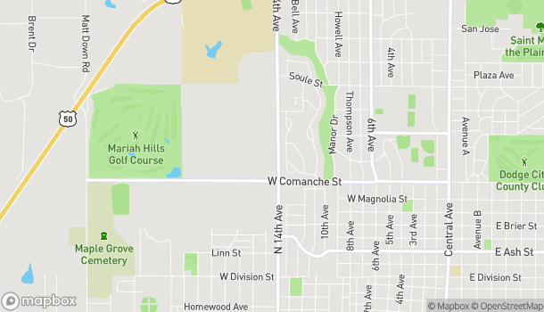 Map of 1903 N 14th Ave in Dodge City