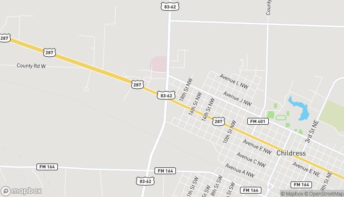 Mapa de 1902 Ave F NW en Childress