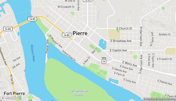 Map of 418 E Sioux Ave in Pierre