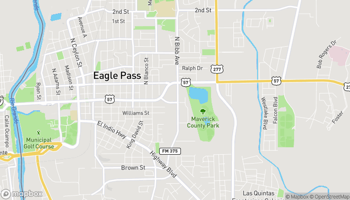 Mapa de 297 S Bibb St en Eagle Pass