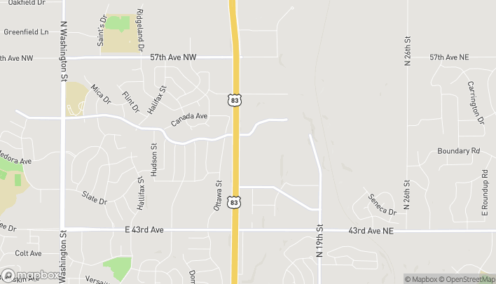 Mapa de 1493 East Lasalle Drive en Bismarck