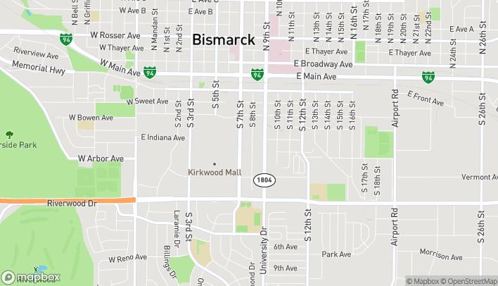 Mapa de 541 South 7th Street en Bismarck