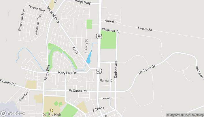 Mapa de 2409 Veterans Blvd en Del Rio