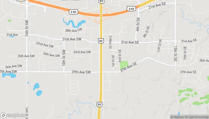 Mapa de 3447 S. Broadway en Minot