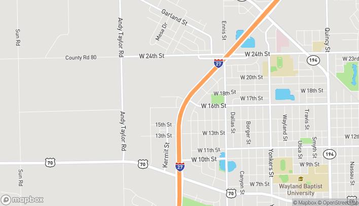 Mapa de 1601 North I-27 en Plainview
