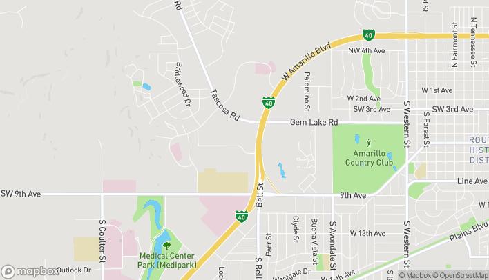 Map of 5752 W Amarillo Blvd in Amarillo