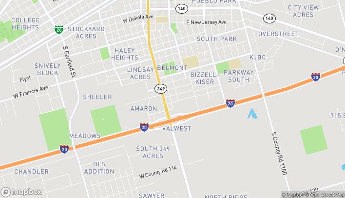 Mapa de 210 W Longview Ave en Midland