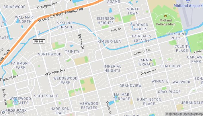 Mapa de 3301 N Midkiff en Midland