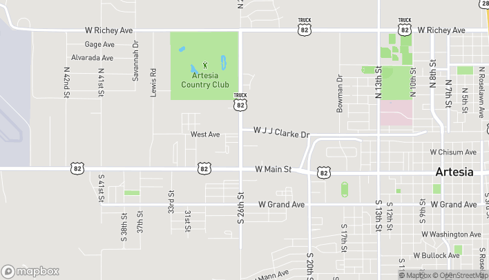 Map of 2521 Permian Pavilion St N in Artesia