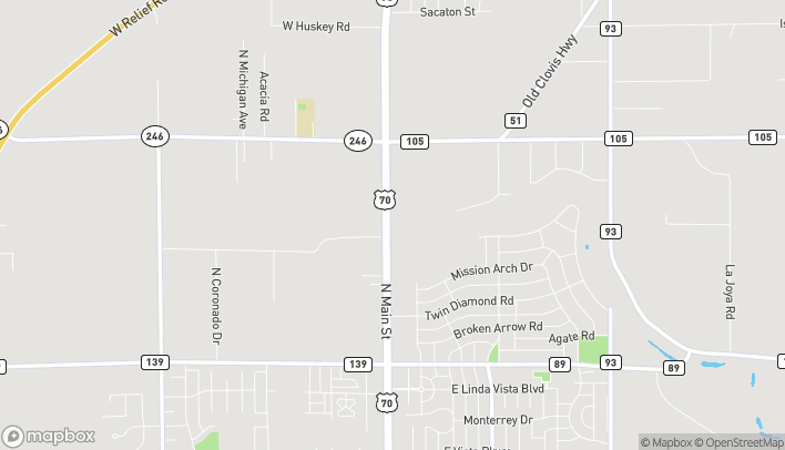 Map of 4311 N Main St in Roswell