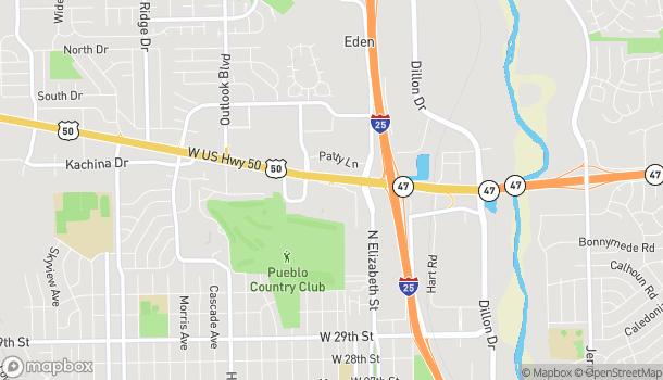 Map of 810 Hwy 50 West in Pueblo